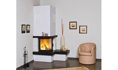 HARK Kaminbausätze »Nebraska Bank Rechts«, 8 kW, echter Mamor weiß, Simse Granit Royal - Black kaufen