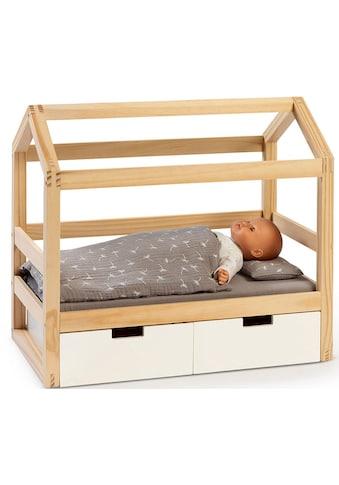 MUSTERKIND® Puppenbett »Puppen-Hausbett Viola, natur/weiß«, aus Holz kaufen
