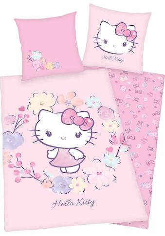 Hello Kitty Kinderbettwäsche »Hello Kitty«, mit niedlichem Hello Kitty Motiv kaufen