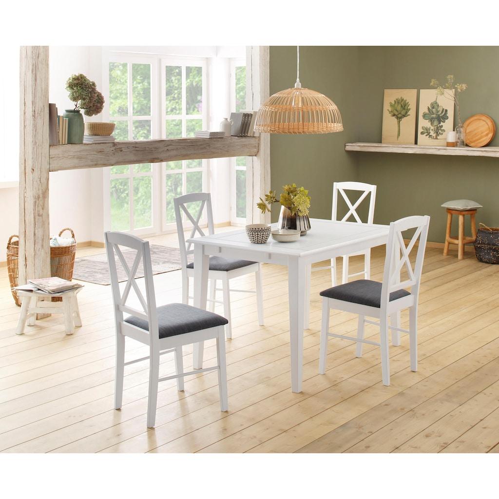 Home affaire Esszimmerstuhl »Sonoma«, mit einem schönen anthrazitfarbenen Webstoff Bezug auf der Sitzfläche, Sitzhöhe 48 cm
