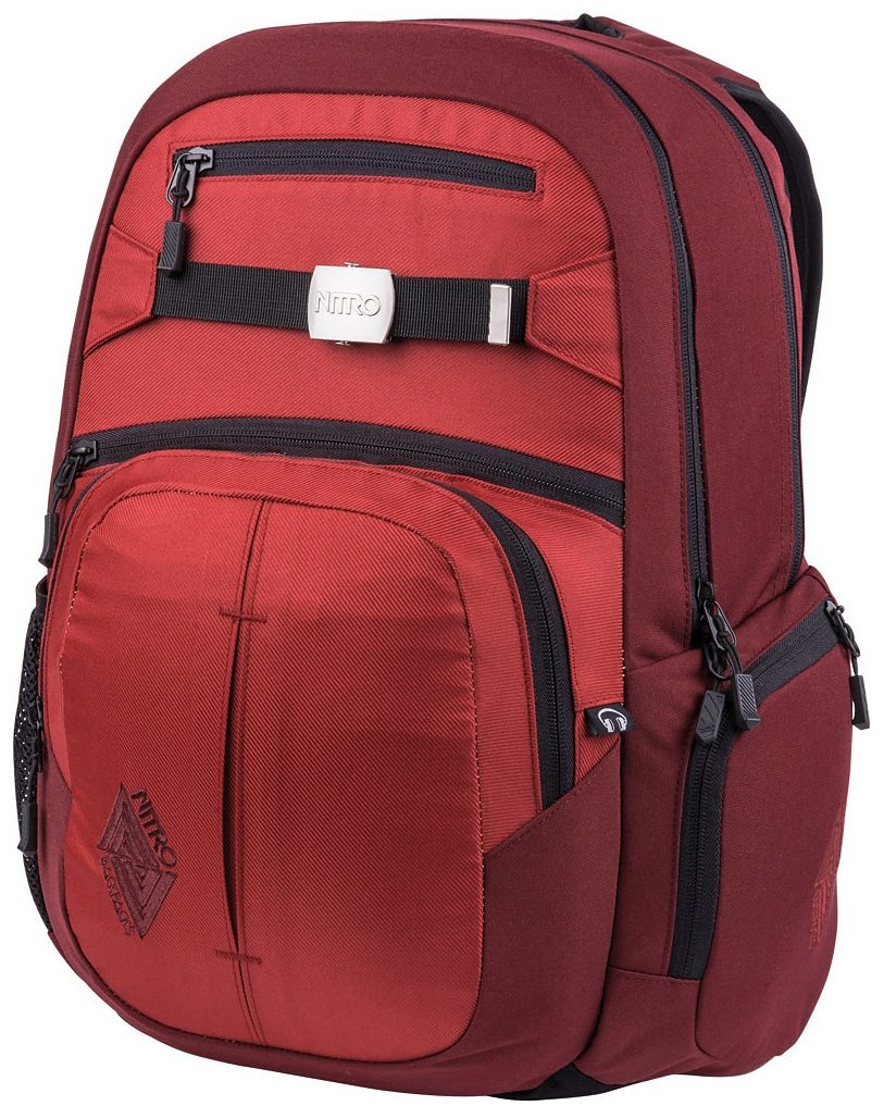 NITRO Schulrucksack Hero, Chili, mit Laptopfach rot Kinder Taschen
