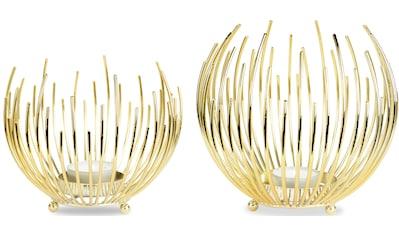 Leonique Teelichthalter »Crell«, Strahlenkugelform aus Metall kaufen