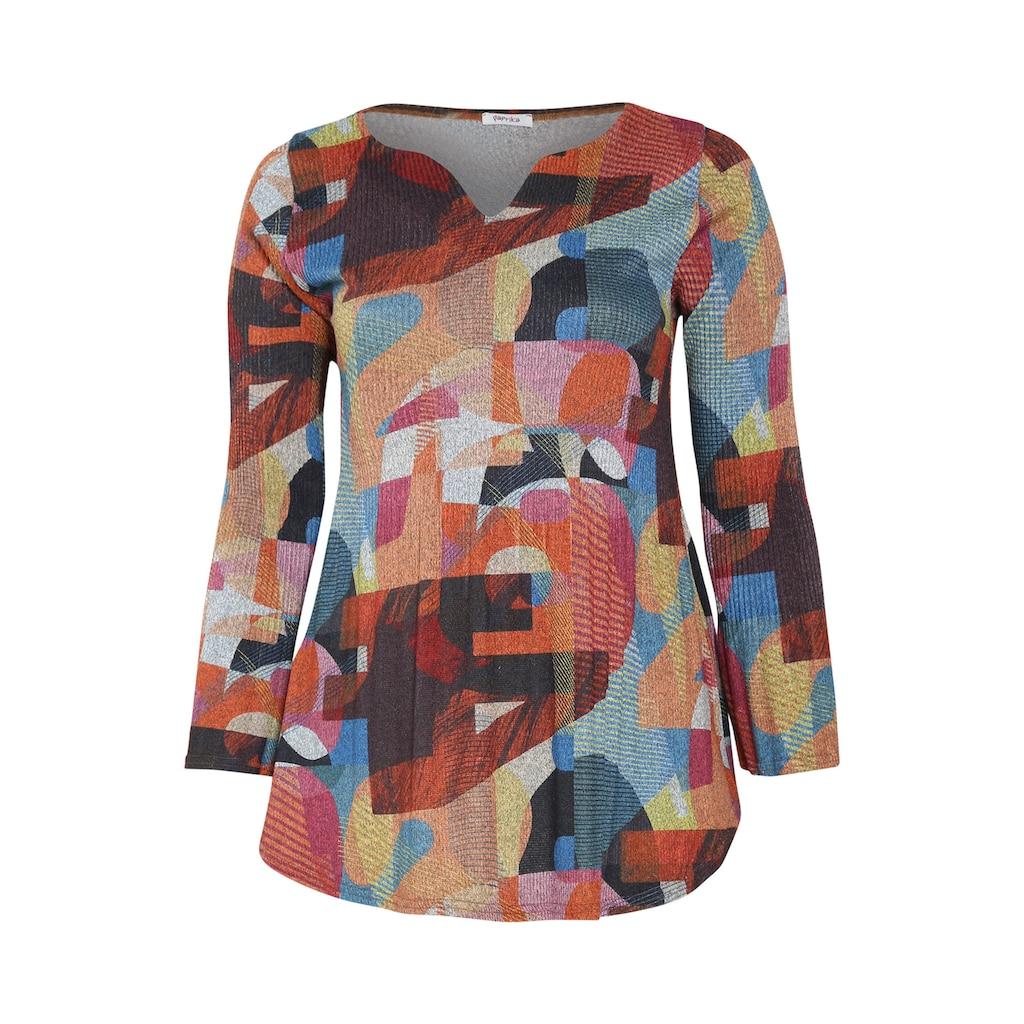 Paprika Longtunika »Longshirt bunt bedruckt«, aus warmen Material