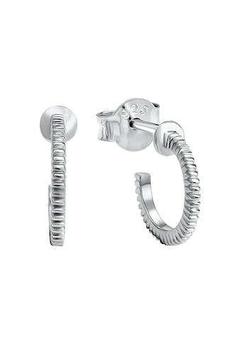 Vivance Paar Creolen »Creolen 925 Silber rhodiniert«, mit Pin und Flügelsicherung kaufen
