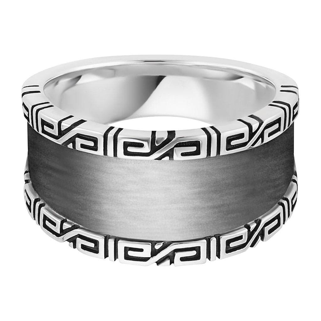 CAÏ Fingerring »925/- Sterling Silber rhodiniert Ornamente«, Ring
