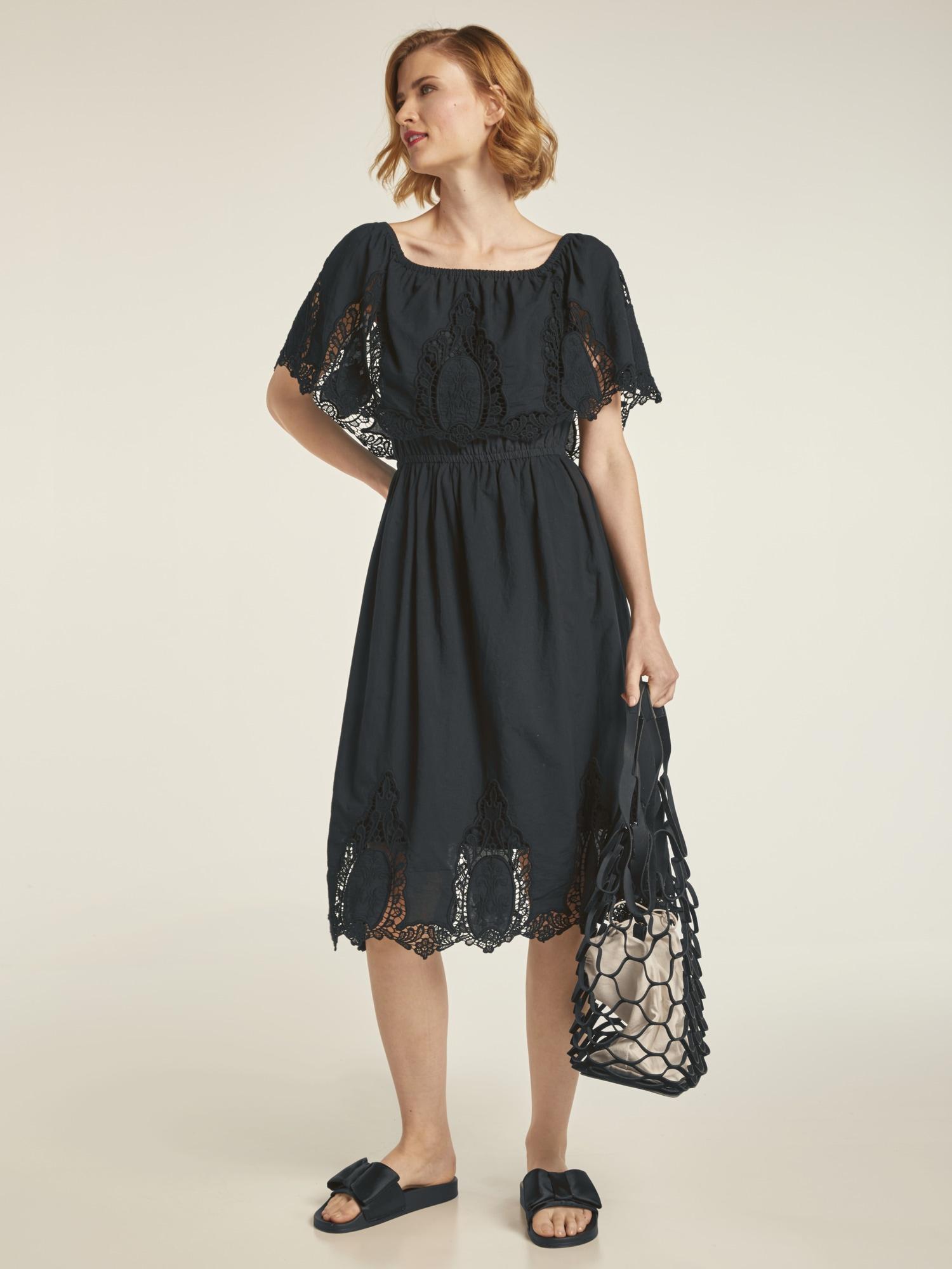 heine CASUAL Kleid mit Carmenausschnitt