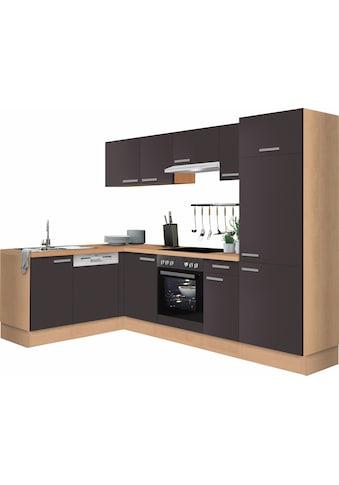 OPTIFIT Winkelküche »Odense«, ohne E-Geräte, Stellbreite 275 x 175 cm, mit 28 mm starker Arbeitsplatte, mit Gratis Besteckeinsatz kaufen