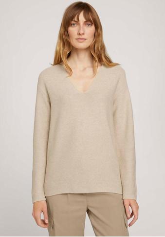 TOM TAILOR V-Ausschnitt-Pullover, mit Bio-Baumwolle kaufen