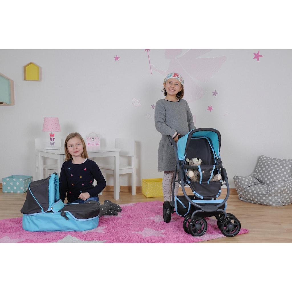 Knorrtoys® Puppenwagen »Coco - tec blue«, 2-in-1