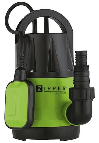 ZIPPER Tauchpumpe »ZI-CWP400«, 7.300 l/h Fördermenge kaufen