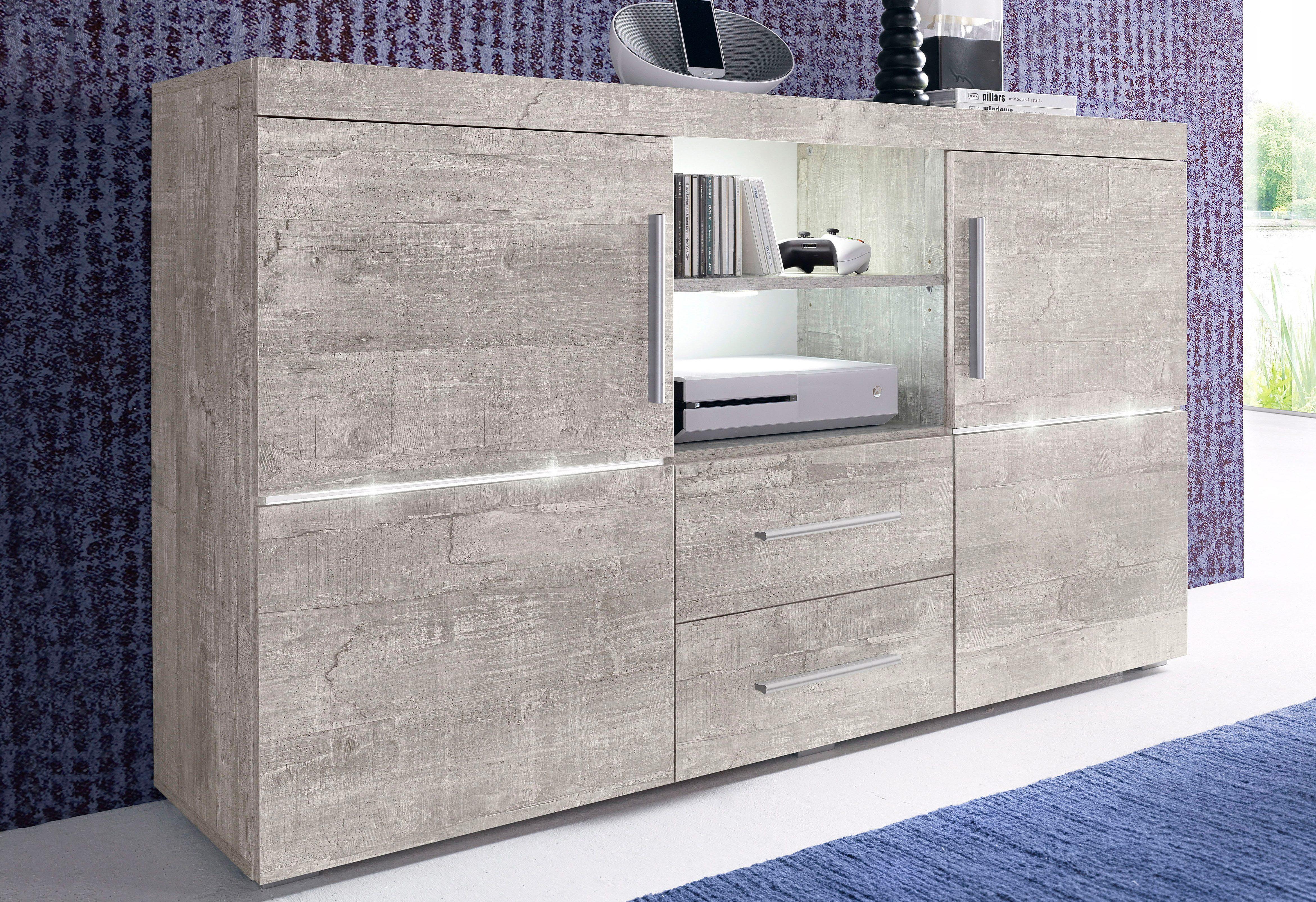 sideboard breite 140 cm bestellen baur. Black Bedroom Furniture Sets. Home Design Ideas
