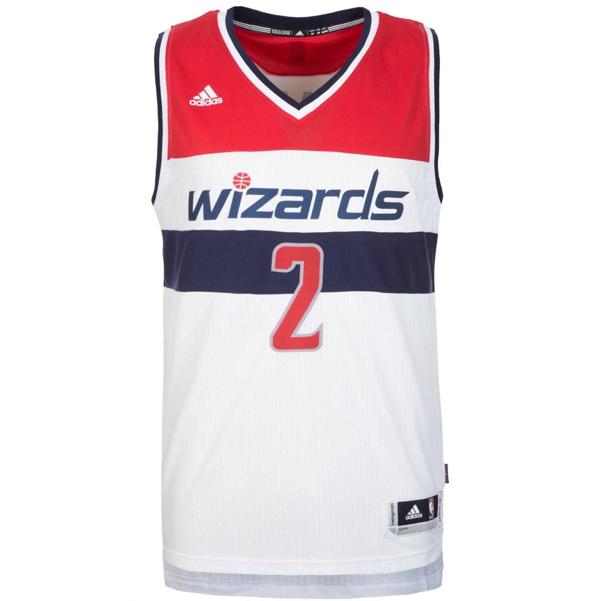 adidas Performance Basketballtrikot Washington Wizards Wall Swingman | Sportbekleidung > Trikots > Basketballtrikots | Weiß | Trikot | Adidas Performance