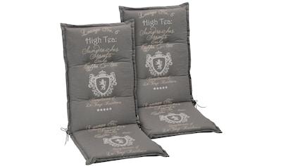 GO - DE Hochlehnerauflage »High Tea«, (2er Set), (L/B): ca. 120x48 cm kaufen
