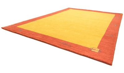 morgenland Wollteppich »Gabbeh Teppich handgewebt gold«, rechteckig, 8 mm Höhe, Kurzflor kaufen