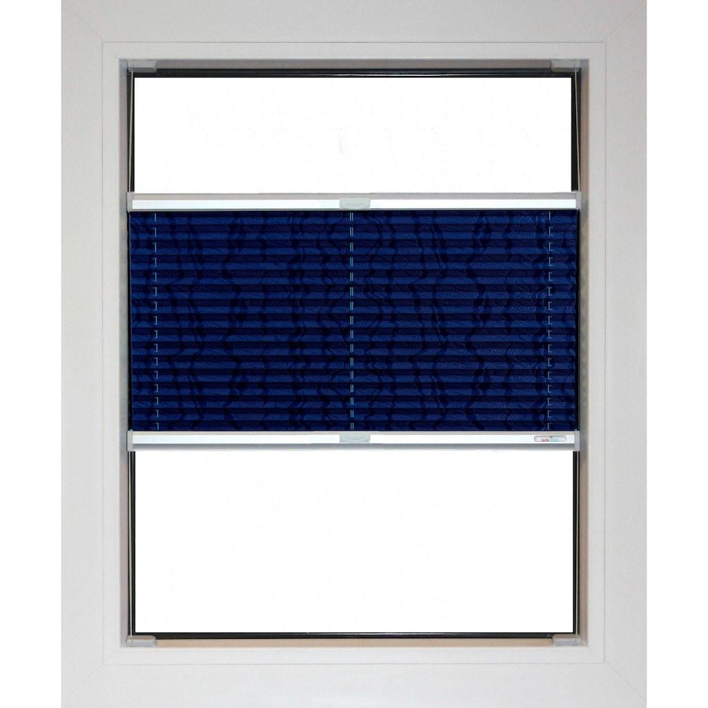 sunlines Plissee nach Maß »Blue Line«, Lichtschutz, energiesparend, mit Bohren, verspannt, Streifen-Muster
