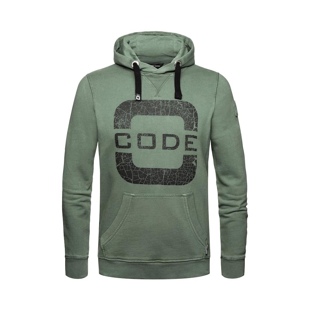 CODE-ZERO Hoodie »Transire Hoodie«, mit Label-Applikationen