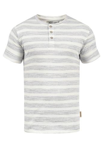 Indicode Rundhalsshirt »Albemarle«, Kurzarmshirt mit Streifen und Knopfleiste kaufen