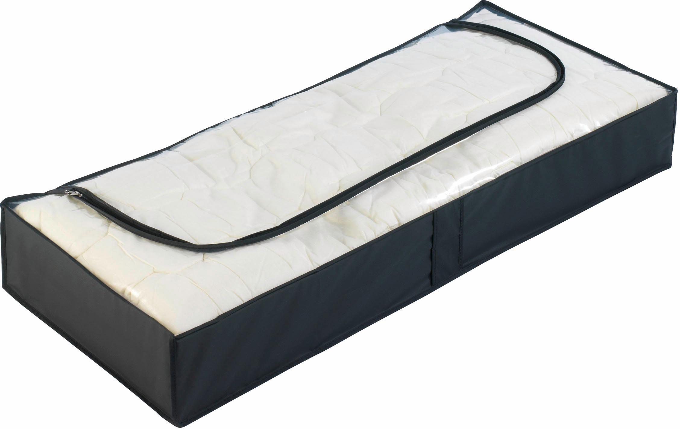 WENKO Unterbettkommode Deep Black, (Set, 4 St.) schwarz Aufbewahrung Ordnung SOFORT LIEFEERBAR Diele Flur Aufbewahrungsboxen