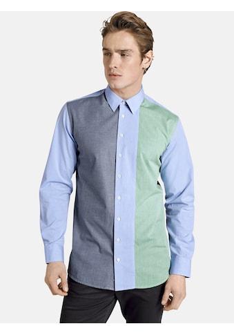 SHIRTMASTER Langarmhemd »frombluetogreen«, in Colour-Blocking-Design kaufen