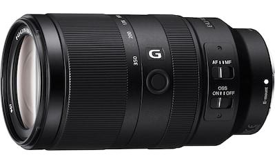Sony Objektiv »SEL-70350G E-Mount Super-Telezoom«, E 70-350mm F4.5-6.3 G, OSS, APS-C kaufen