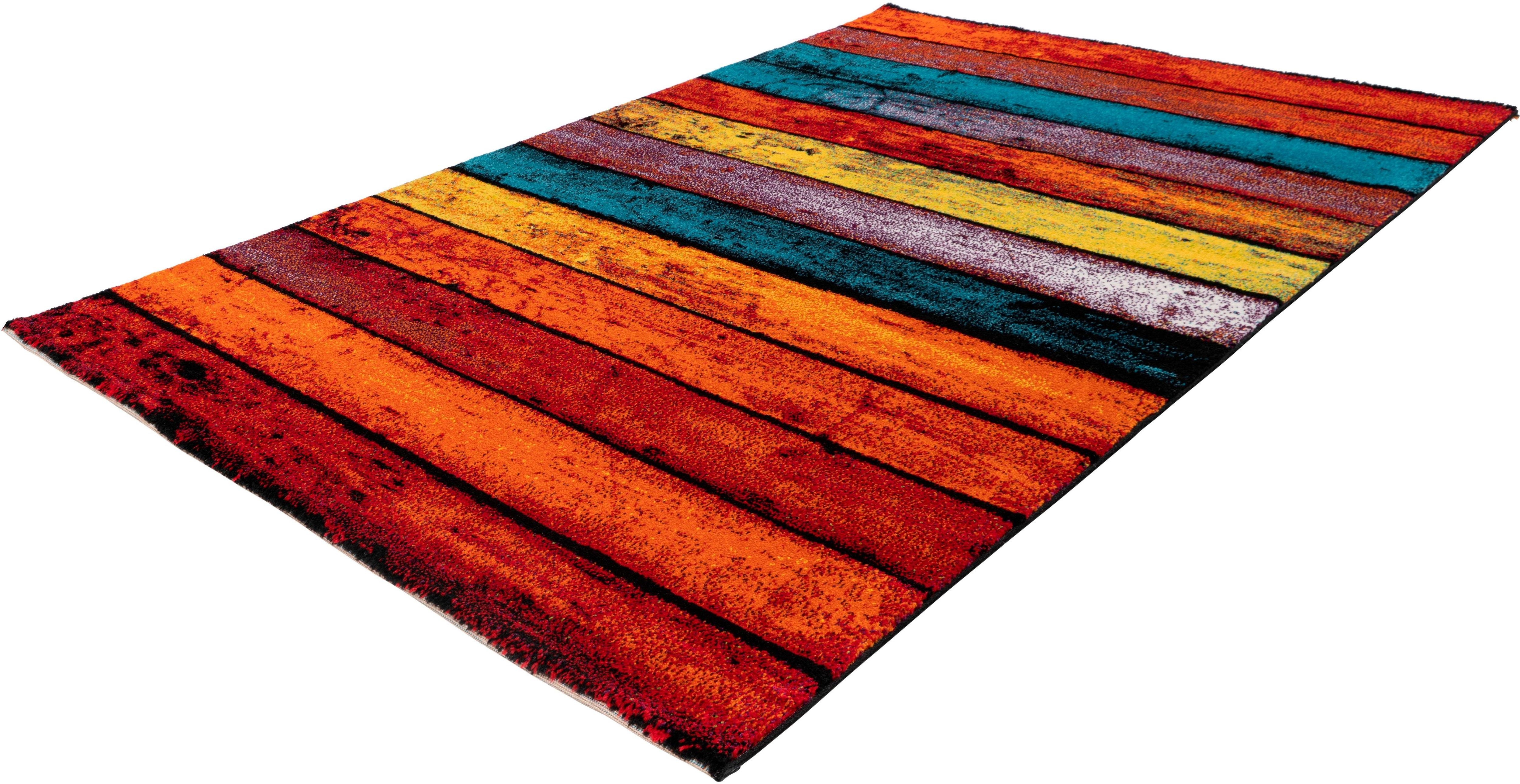 Teppich Mara Rainbow 300 calo-deluxe rechteckig Höhe 15 mm maschinell gewebt
