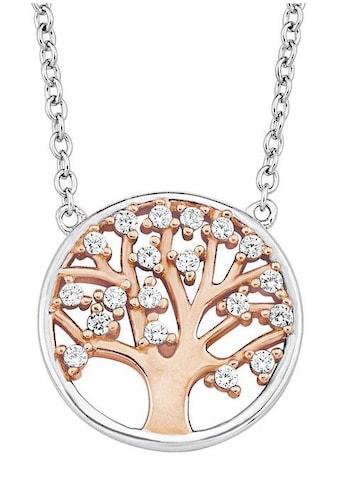 Amor Kette mit Anhänger »Lebensbaum, 2012770«, mit Zirkonia kaufen