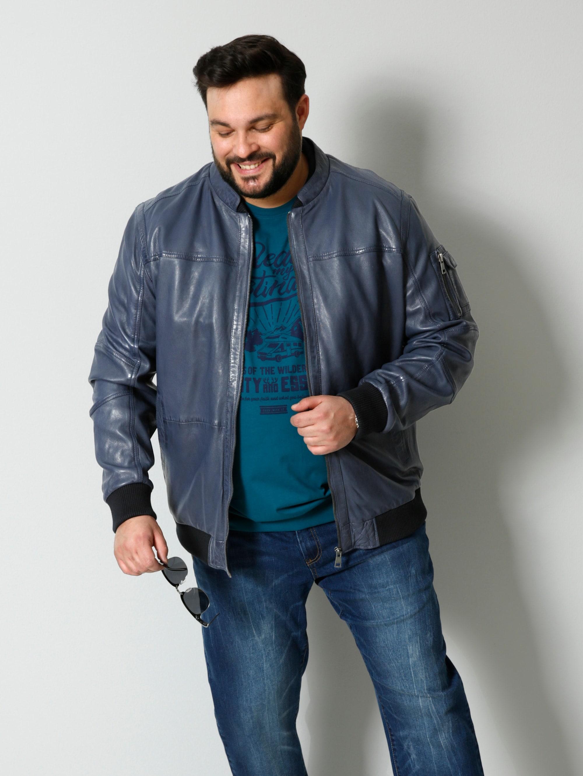 men plus by happysize -  Lederjacke, Spezialschnitt