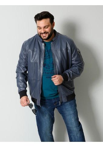 Men Plus by HAPPYsize Lederjacke, Spezialschnitt kaufen
