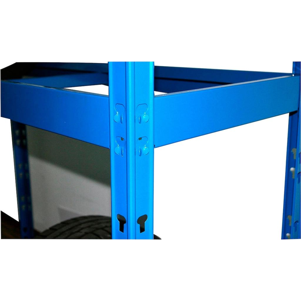 SZ METALL Schwerlastregal, B/T/H: 130x50x180 cm, für 12 Reifen, höhenverstellbar