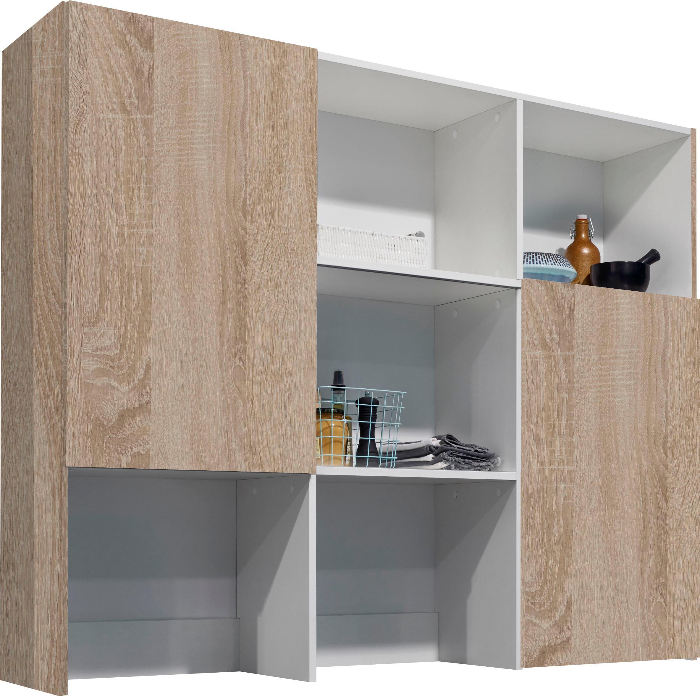 OPTIFIT Aufsatzregal Mini braun Zubehör für Kleiderschränke Möbel Möbelaufsätze