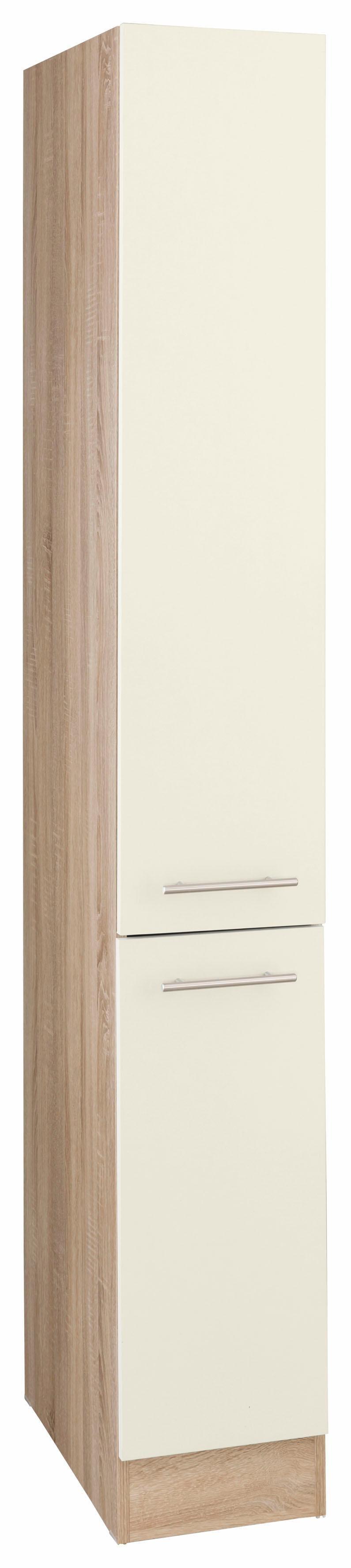 OPTIFIT Apothekerschrank »Kalmar« | Küche und Esszimmer > Küchenschränke > Apothekerschränke | Natur | Nachbildung - Edelstahl - Eiche - Melamin | OPTIFIT