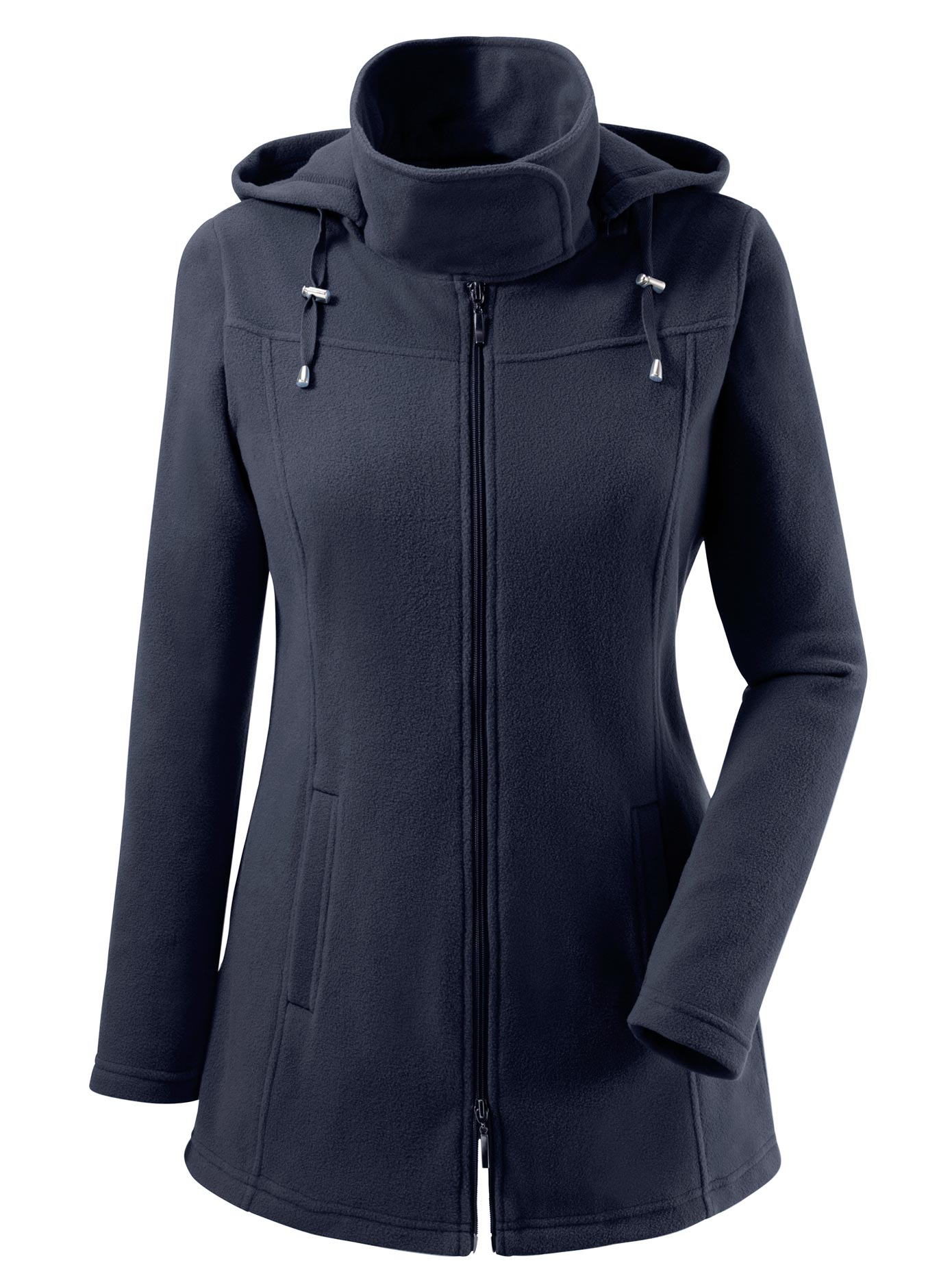 Casual Looks Fleece-Jacke mit Kordelstopper | Bekleidung > Jacken > Fleecejacken | Blau | Fleece | Casual Looks