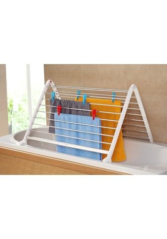 Ruco Badewannen-Wäscheständer, Aluminium/Kunststoff, ausziehbar bis max. 90 cm kaufen