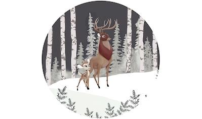 Komar Fototapete »Bambi Great Prince«, bedruckt-Comic-Retro-mehrfarbig, BxH: 128x128... kaufen