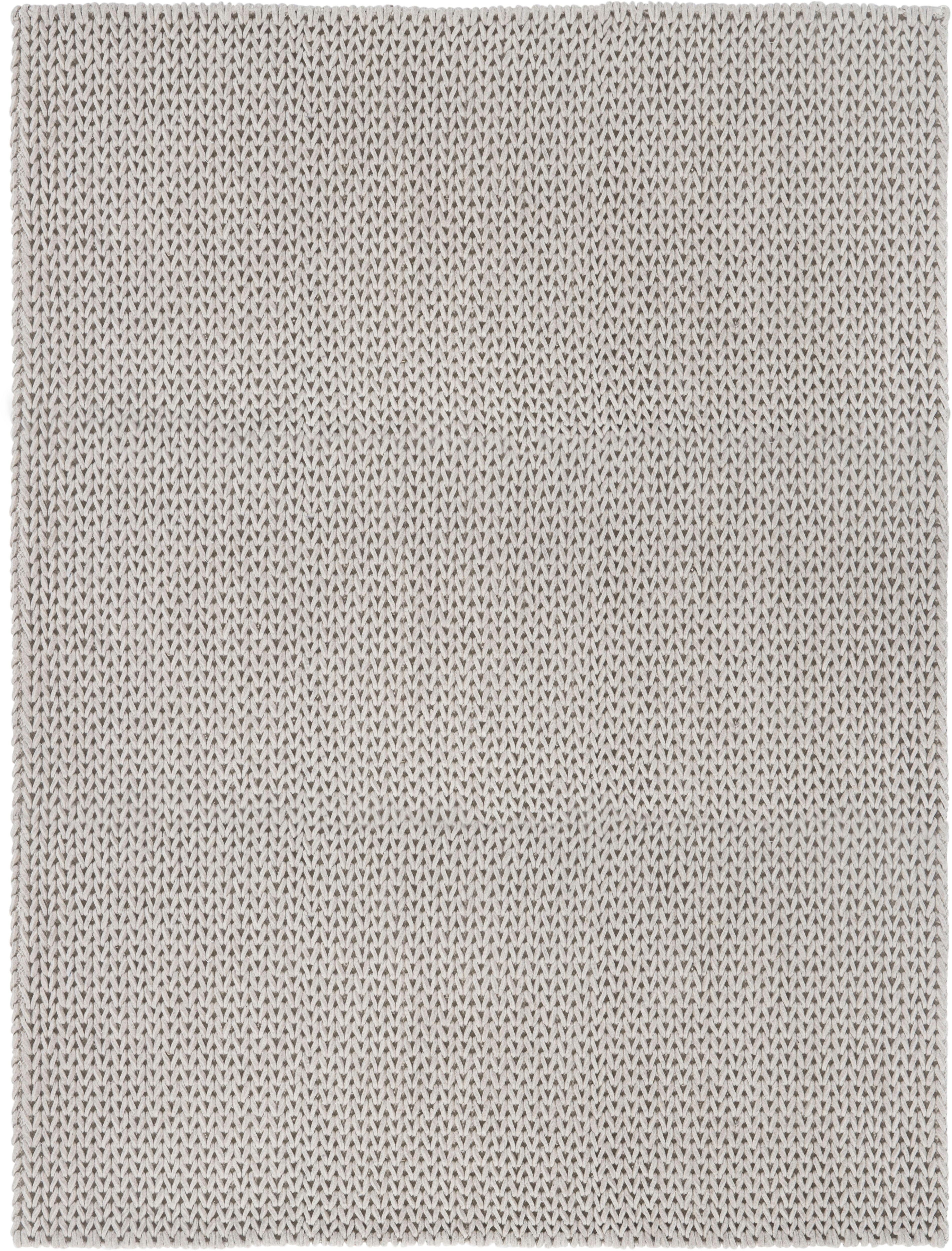 LUXOR living Wollteppich Morton, rechteckig, 12 mm Höhe, reine Wolle, handgewebt, Filz-Struktur, Strick-Optik, Wohnzimmer grau Esszimmerteppiche Teppiche nach Räumen