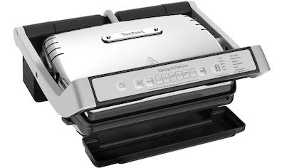 Tefal Kontaktgrill GC707D OptiGrill Deluxe, 2000 Watt kaufen