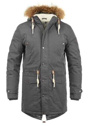 Solid Winterjacke »Dry Parka«, warme Jacke mit abnehmbarem Kunstfellkragen kaufen