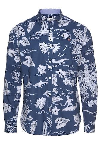 Napapijri Langarmhemd, mit Alloverprint kaufen