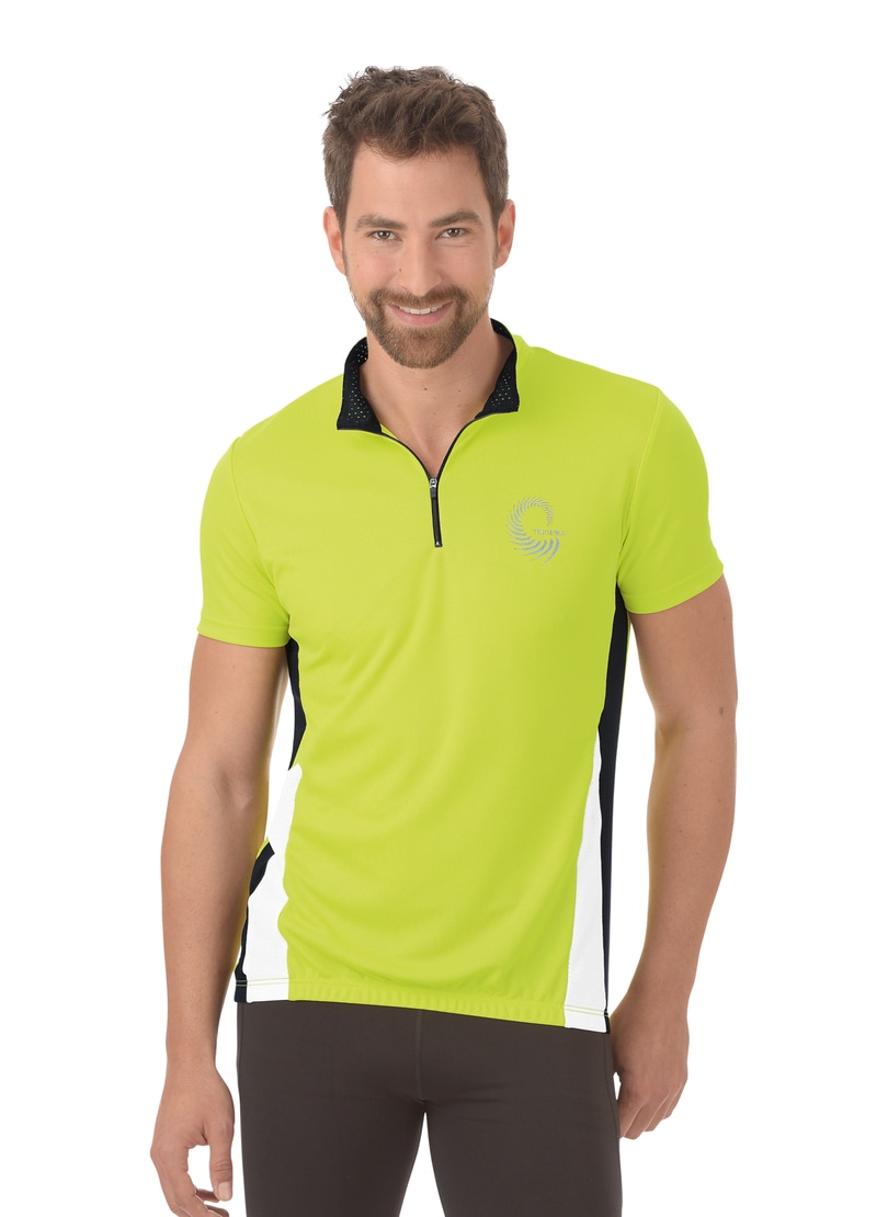 Trigema Fahrradtrikot | Sportbekleidung > Trikots > Fahrradtrikots | Gelb | Trigema
