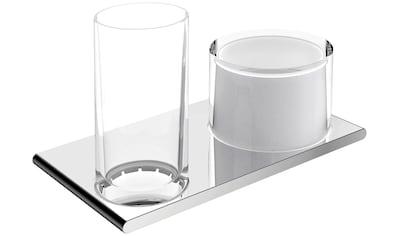 KEUCO Bad - Accessoire - Set »Edition 400«, Glas und Seifenspender aus Echtkristallglas kaufen