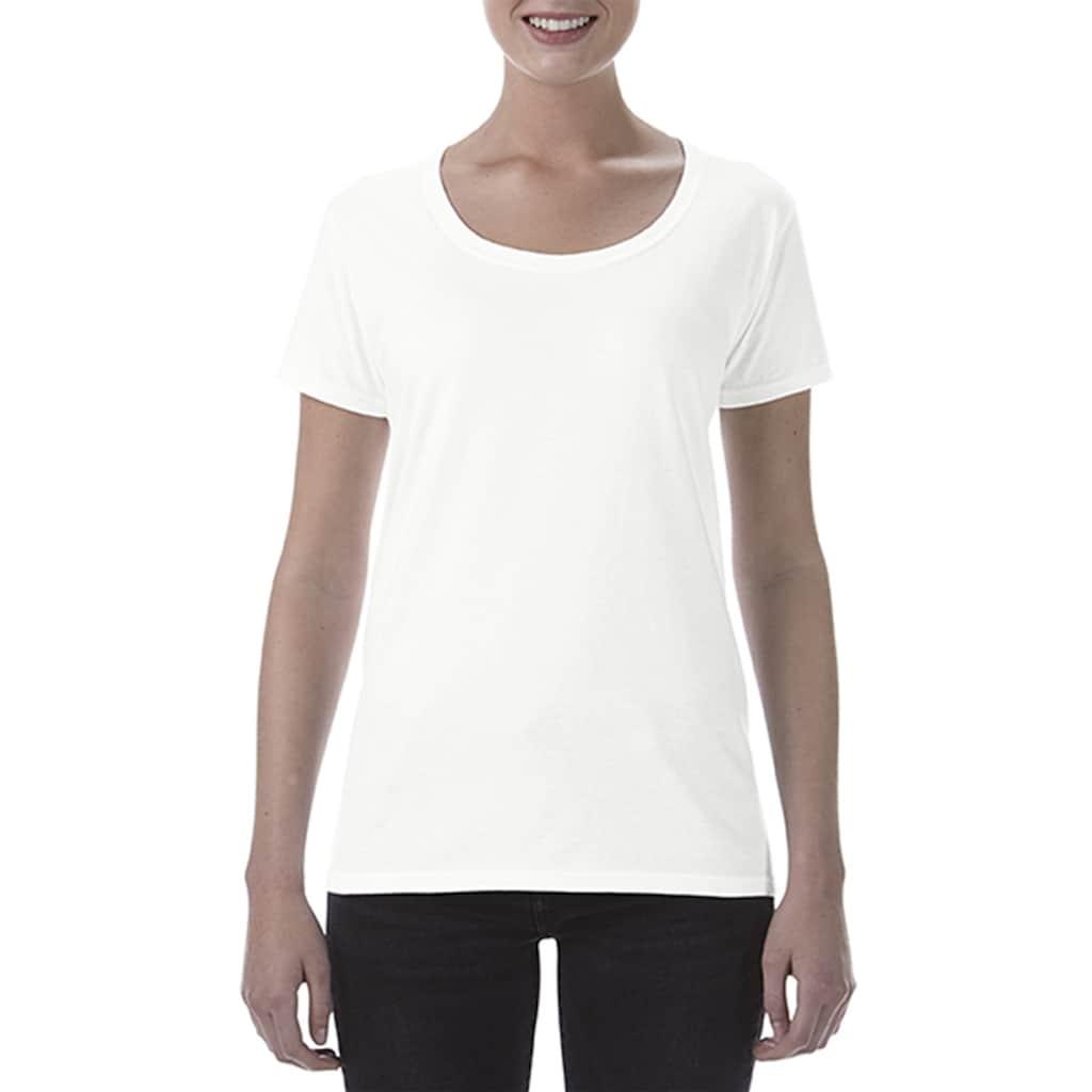 Gildan T-Shirt »Damen Kurzarm Scoop«