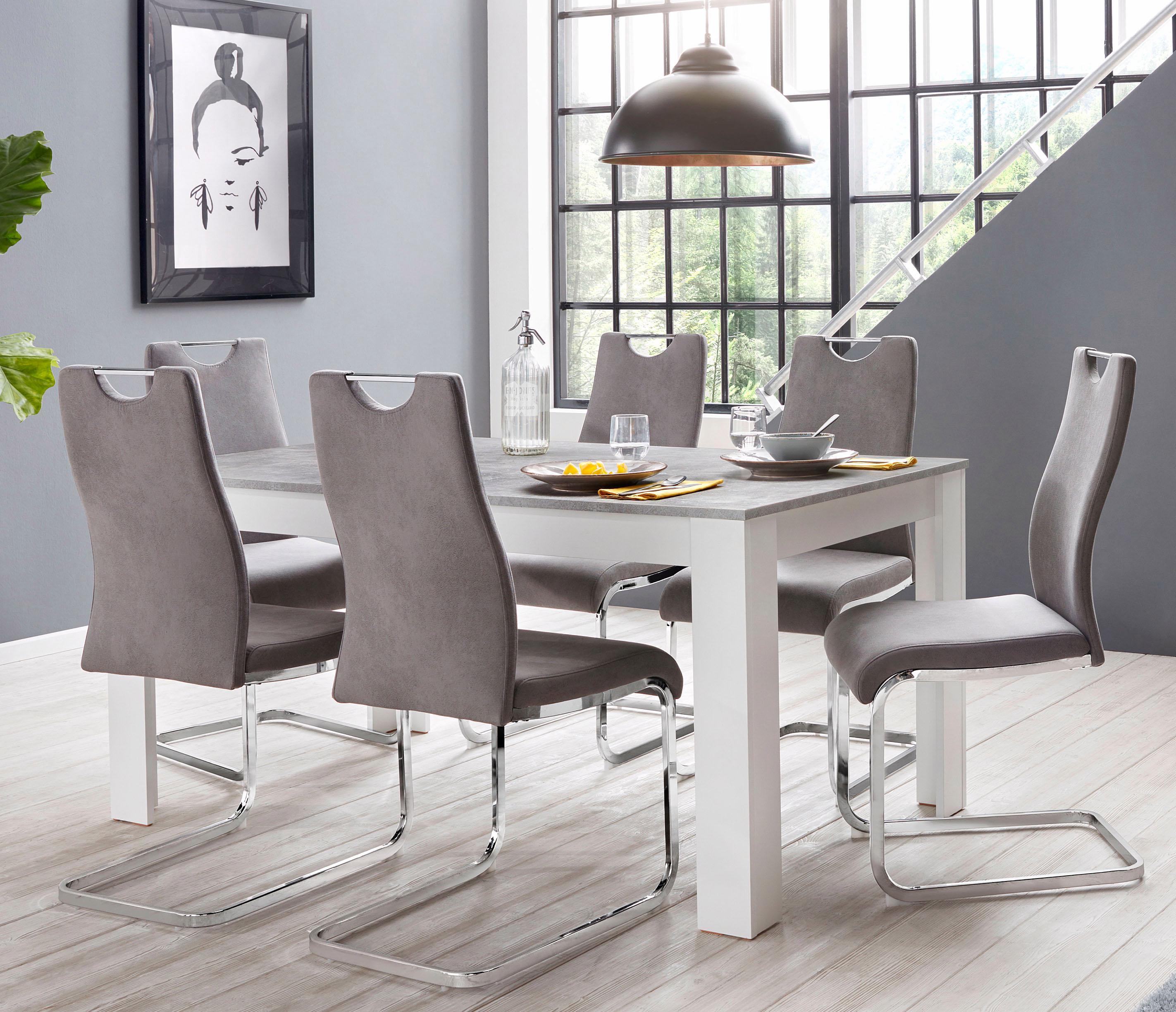 Homexperts Zabona Essgruppe (1 Tisch + 4 Stühle)
