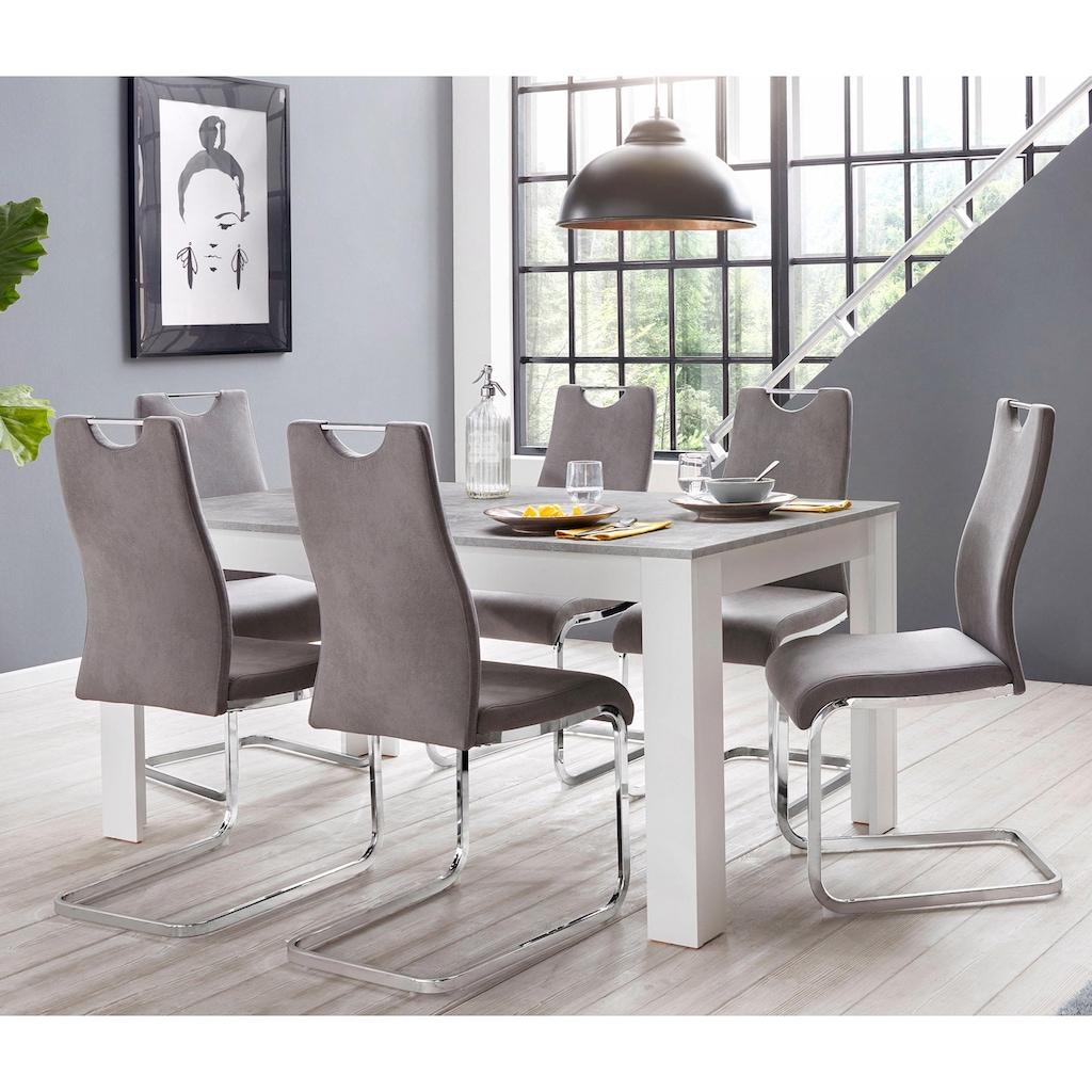 Homexperts Essgruppe »Zabona«, (Set, 5 tlg.), 4 Stühle und 1 Tisch