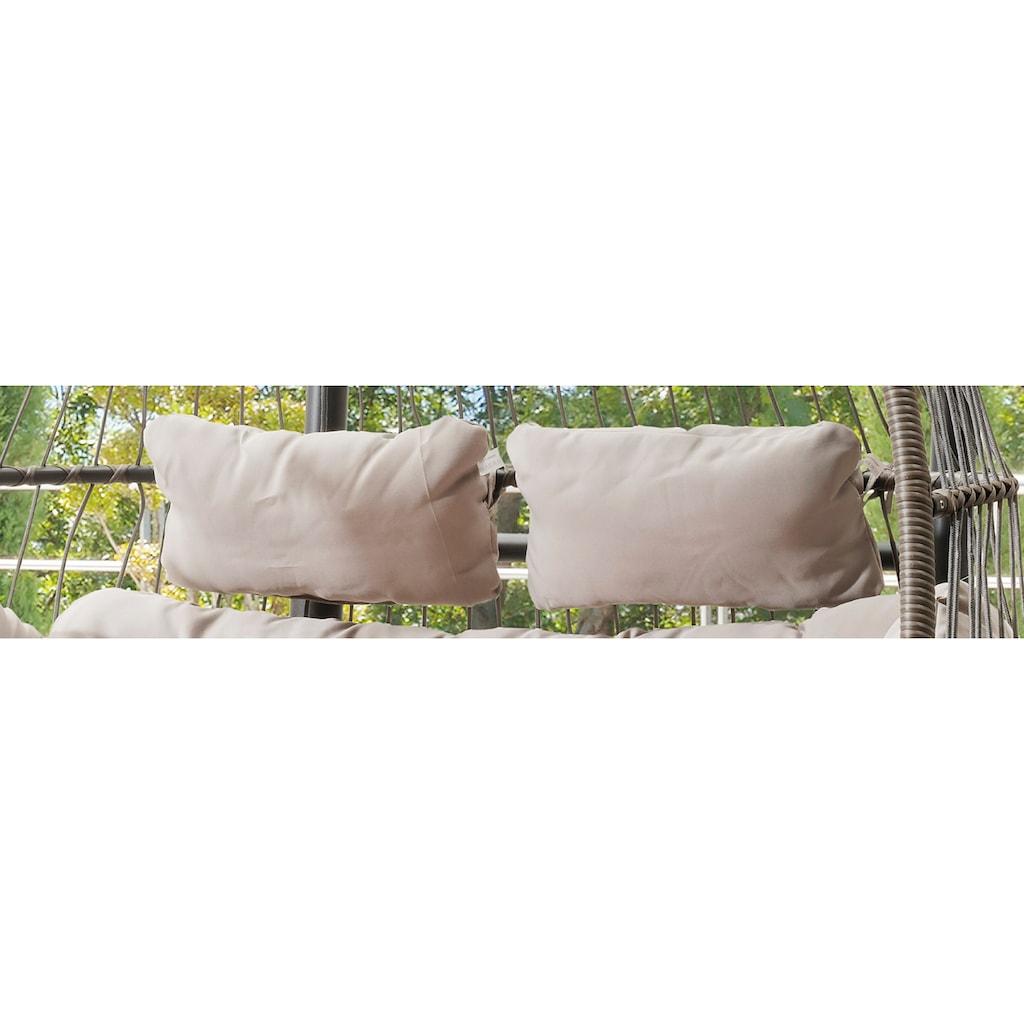 Destiny Hängestuhl »Coco Double Relax«, Polyrattan/Alu, inkl. Sitz- und Rückenkissen