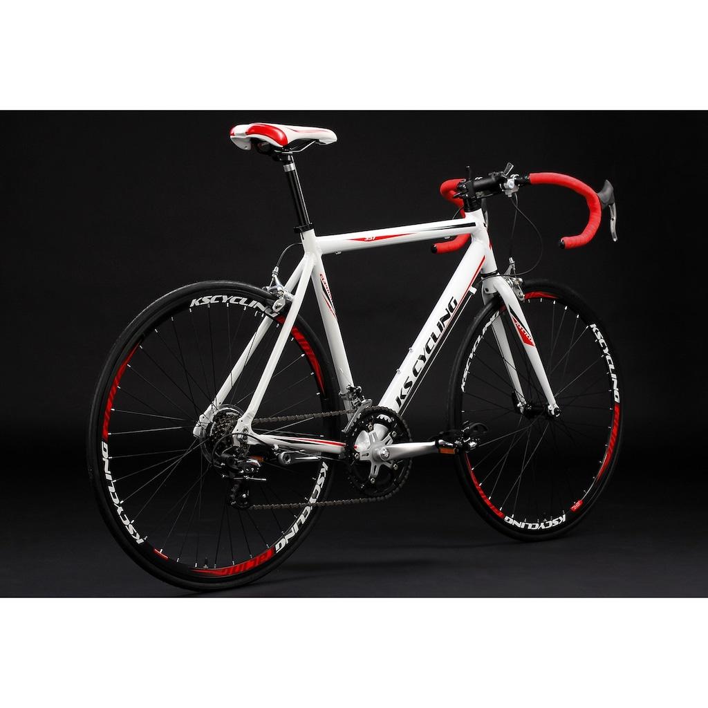 KS Cycling Rennrad »Euphoria«, 14 Gang, Shimano, RD-A 050 Schaltwerk, Kettenschaltung