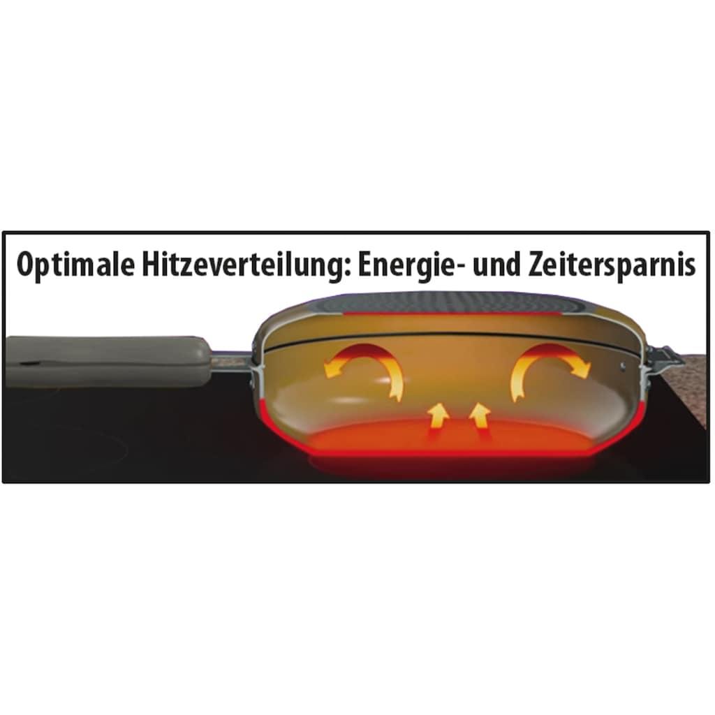STONELINE Bratpfanne »(Dreh- u. Wendepfanne)«, Aluminiumguss, 27 x 22 cm, Induktion