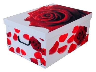 Kreher Aufbewahrungsbox Rose Rot weiß Kleideraufbewahrung Aufbewahrung Ordnung Wohnaccessoires