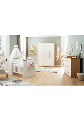 Lüttenhütt Baby Babyzimmer-Komplettset »Lauris, weiß/eiche«, (Set, 3 tlg.), FSC®-Holz aus gewissenhaft bewirtschafteten Wäldern kaufen