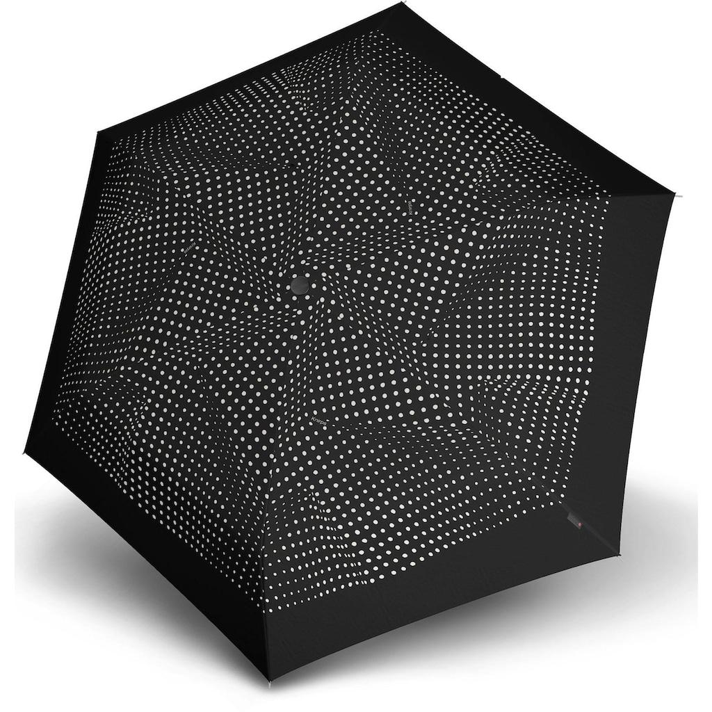 Knirps® Taschenregenschirm »TS.200 Slim Medium Duomatic bolero black/ecru«