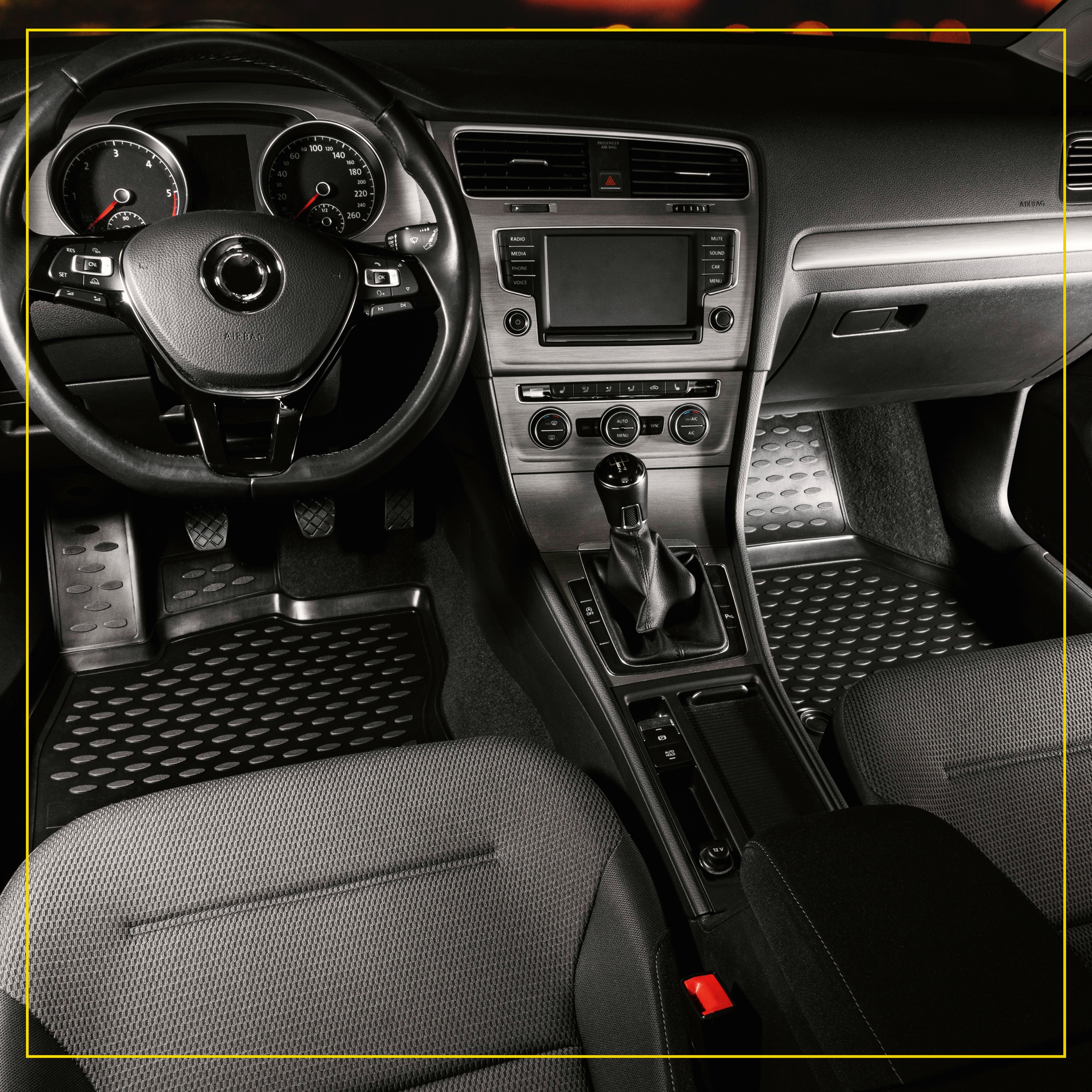 WALSER Passform-Fußmatten XTR, BMW, X3, Geländewagen, (4 St., 2 Vordermatten, Rückmatten), für BMW X3 (F25) BJ 2010-2017 schwarz Automatten Autozubehör Reifen